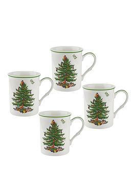 portmeirion-spode-christmas-tree-mugs-ndash-set-of-4