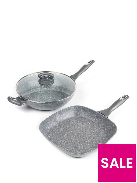 salter-marble-collection-wok-and-griddle-pan-set-in-grey