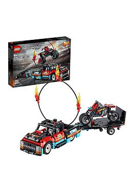 lego-technic-42106-stunt-show-truck-amp-bike-with-pull-back-motor-2in1