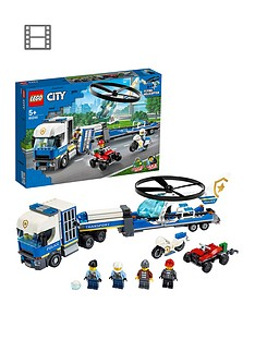 LEGO City 60244 Police Helicopter Transport with Motorbike and Truck Best Price, Cheapest Prices
