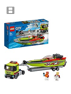 LEGO City 60254 Race Boat Transporter with Speedboat Best Price, Cheapest Prices