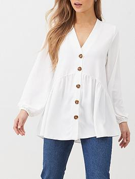 v-by-very-longline-button-through-tunic-blouse-ivory