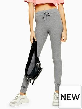 topshop-fine-rib-joggers-grey