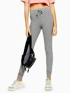 topshop-topshop-fine-rib-joggers-grey