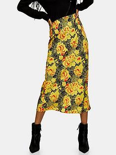 topshop-topshop-oriental-bias-midi-skirt-yellow