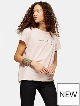 topshop-petite-one-and-only-t--shirt-pink