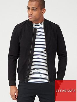 selected-homme-nubuck-bomber-jacket-black