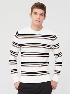 selected-homme-canton-stripe-crew-neck-jumper-white