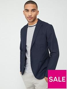selected-homme-dave-linen-slim-fit-blazer-navy
