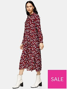 topshop-tall-trapeeze-midi-shirt-dress-burgundy