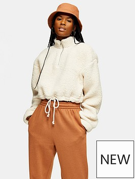 topshop-borg-funnel-pocket-top-cream