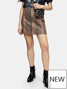 topshop-sand-coated-zip-skirt-sand