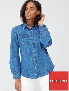 v-by-very-essentialnbspdenim-shirt-mid-wash
