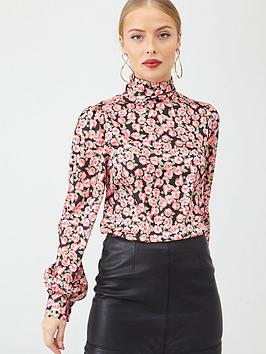 v-by-very-high-neck-printed-blouse-rose-print