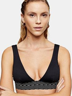 topshop-topshop-shirred-elastic-triangle-bikini-top-black