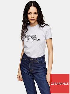 topshop-snow-leopard-t--shirt-white