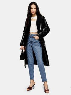 topshop-tess-borg-coat-black