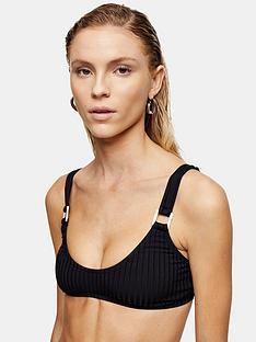 topshop-square-neck-ring-bikini-top-black