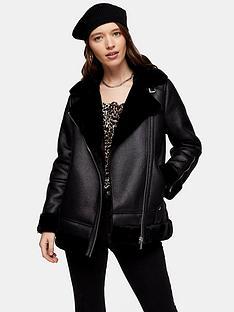 topshop-gala-biker-jacket-black