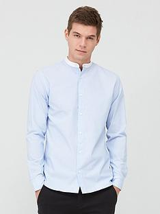 selected-homme-merce-grandad-collar-shirt-light-blue