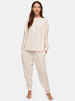 topshop-topshop-star-print-super-soft-pyjama-joggers-pink