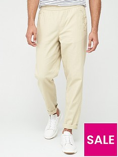 selected-homme-cooper-linen-trousers-beige