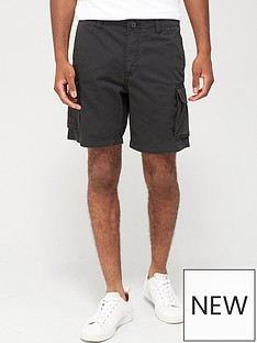 selected-homme-cargo-shorts-black