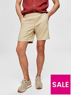 selected-homme-cooper-linen-shorts-beige