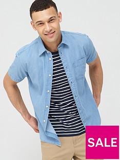 selected-homme-slim-fit-denim-shirt-blue