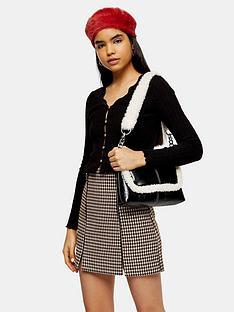 topshop-lace-rib-cardigan-black
