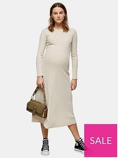 topshop-maternity-cut-and-sew-midi-dress-oat