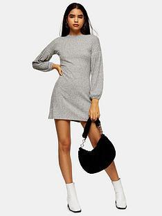 topshop-cut-amp-sew-balloon-mini-dress-grey-marl