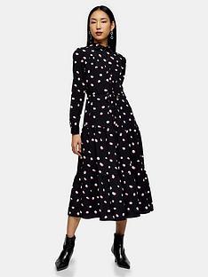 topshop-spot-tiered-shirtdress-black