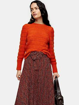 topshop-topshop-all-over-pretty-knitted-jumper-orange