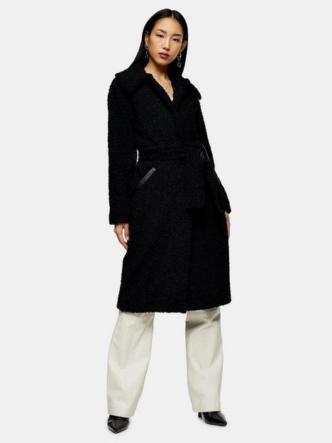 topshop-maxi-borg-coat-black