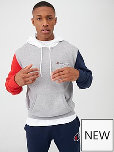champion-team-stripes-overhead-hoodie-grey-marl