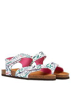 joules-girlsnbsptippy-toes-flamingo-sandalsnbsp--white