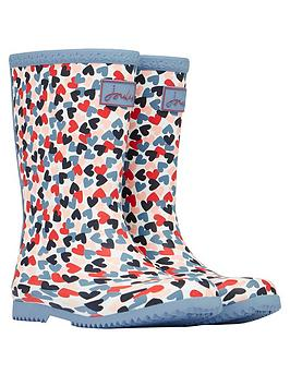 joules-girls-hearts-roll-up-wellington-boots--white