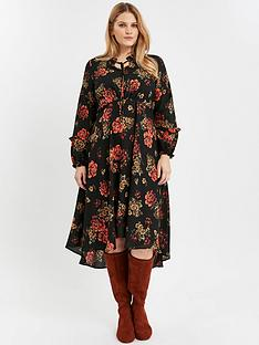 evans-floral-boho-dress-red