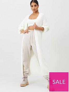 missguided-missguided-extreme-rib-balloon-sleeve-maxi-cardigan-cream