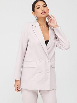 missguided-missguided-oversized-horn-button-blazer-lilac