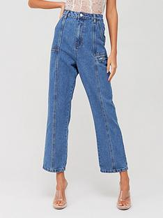 missguided-missguided-panel-denim-jeans-blue