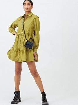 missguided-missguided-tiered-shirt-dress-olive