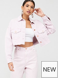 missguided-missguided-cropped-oversized-raw-hem-denim-jacket-co-ord-blush