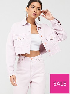 missguided-missguided-cropped-oversized-raw-hem-denim-jacket-co-ord-blush