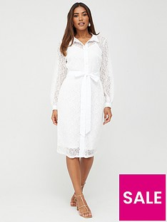 v-by-very-lace-shirt-midi-dress-white