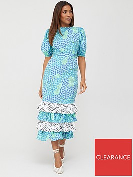 v-by-very-tiered-mix-print-midaxi-dress-floral-spot