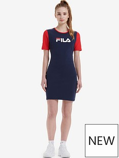 fila-roslyn-colour-block-bodycon-dress-navynbsp