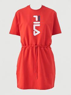 fila-oribe-oversized-t-shirt-dress-rednbsp