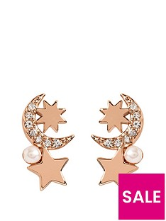 radley-radley-rose-gold-tone-sterling-silver-and-pearl-detail-moon-and-star-ladies-drop-earrings
